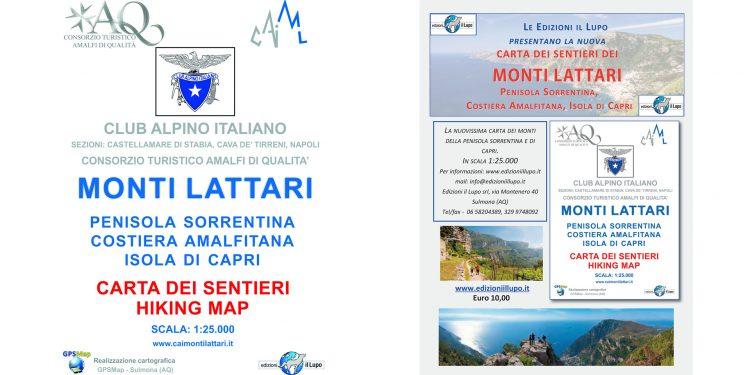 comprare la mappa dei sentieri dei Monti Lattari
