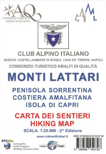 Costiera Amalfitana Cartina Stradale.Dove Comprare La Carta Dei Sentieri Dei Monti Lattari Cai